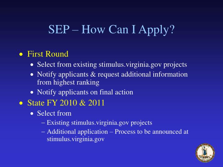 SEP – How Can I Apply?