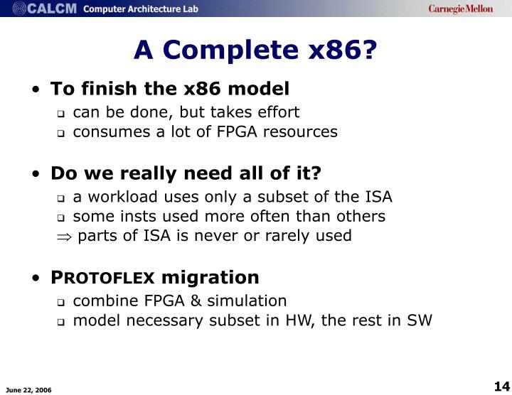 A Complete x86?