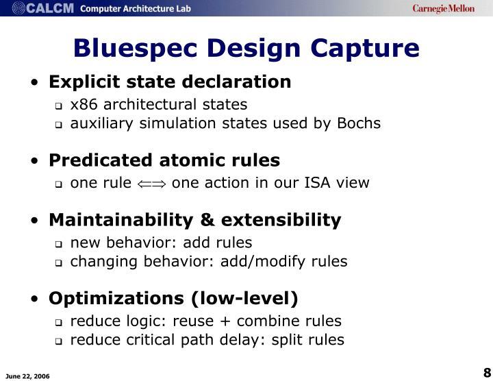Bluespec Design Capture