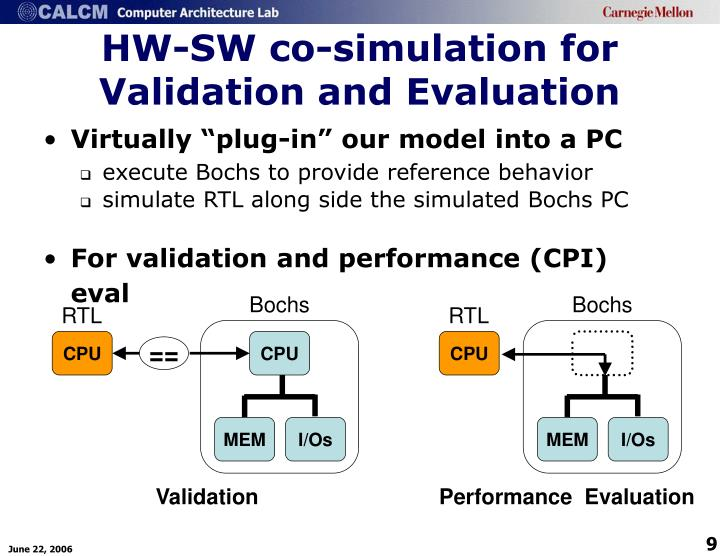HW-SW co-simulation for