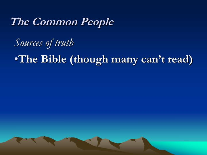 The Common People
