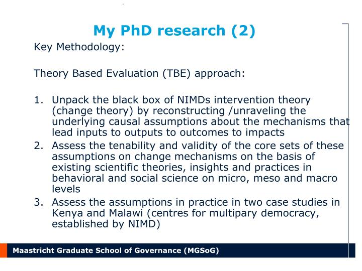 My PhD research (2)