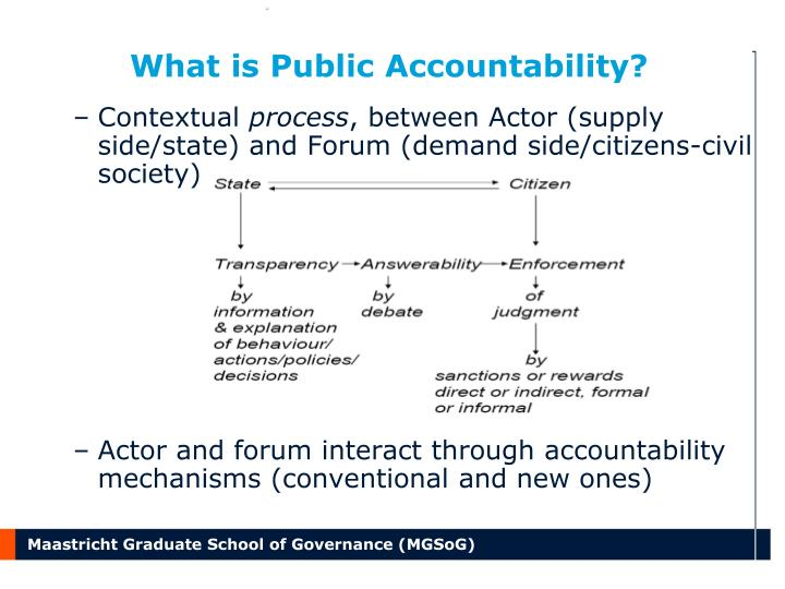 What is public accountability