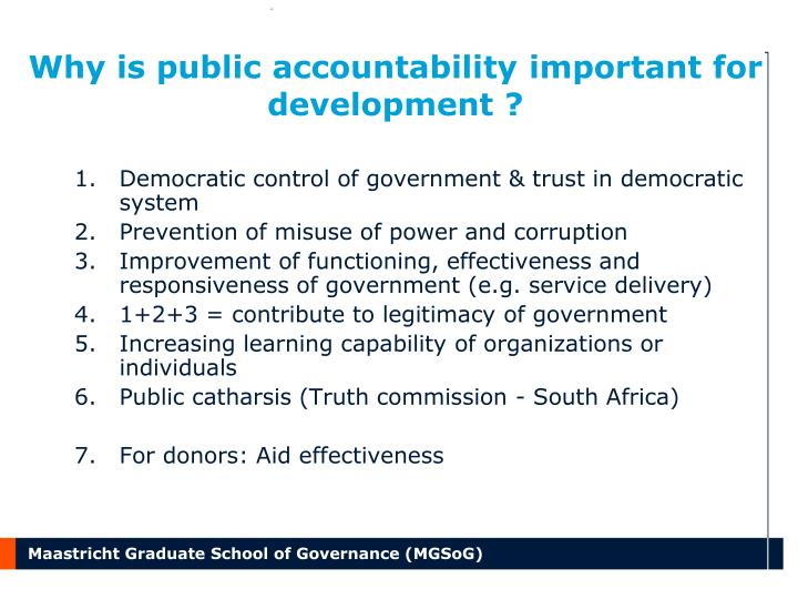 Why is public accountability important for development
