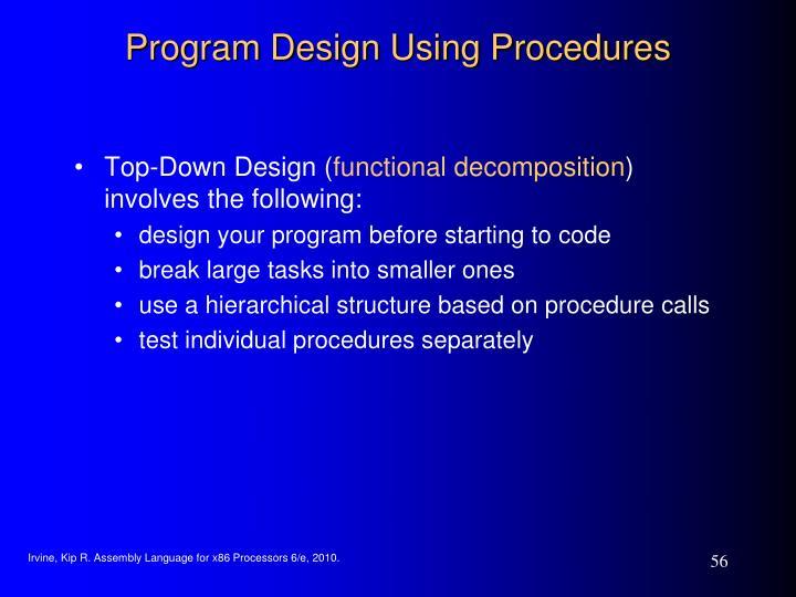 Program Design Using Procedures