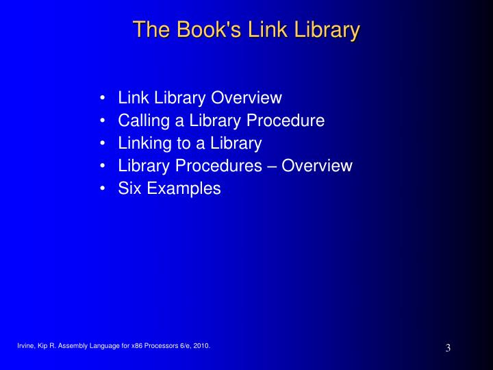 The Book's Link Library