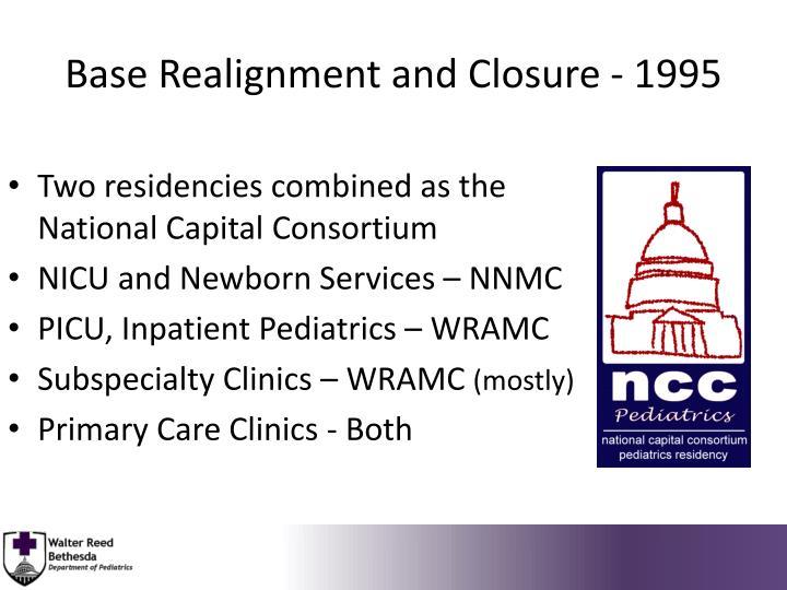 Base Realignment and Closure - 1995