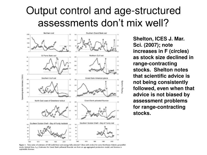 Output control and age-structured assessments don't mix well?