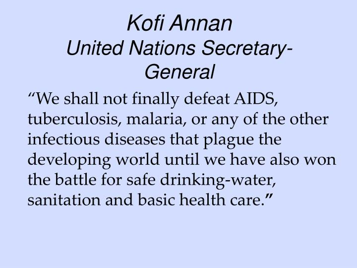 Kofi annan united nations secretary general
