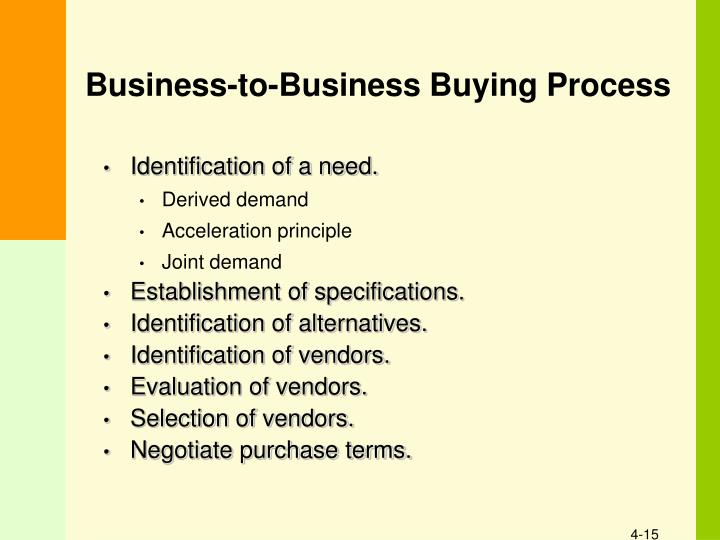 Business-to-Business Buying Process