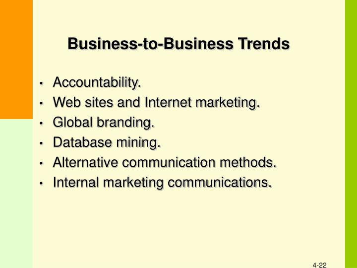 Business-to-Business Trends
