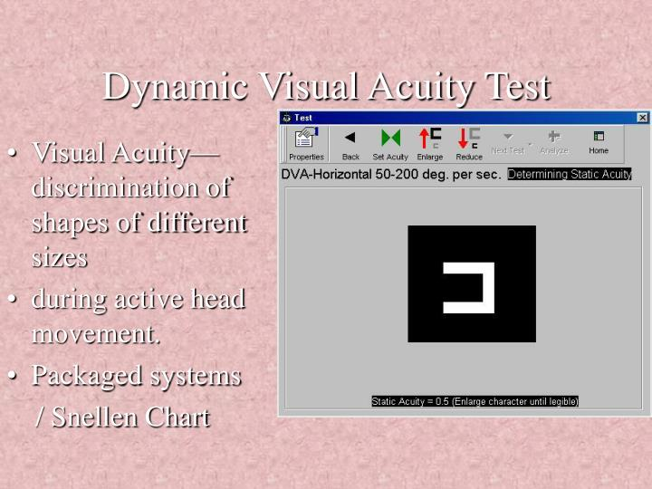 Dynamic Visual Acuity Test
