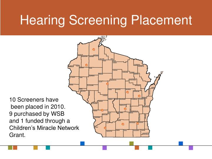 Hearing Screening Placement