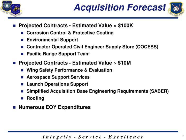 Acquisition Forecast