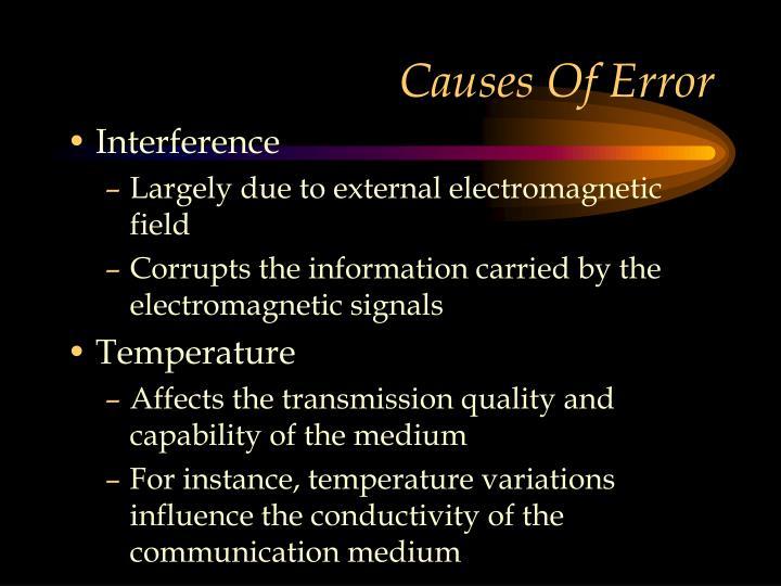Causes Of Error
