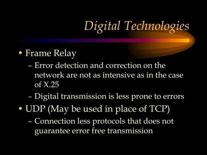 Digital Technologies