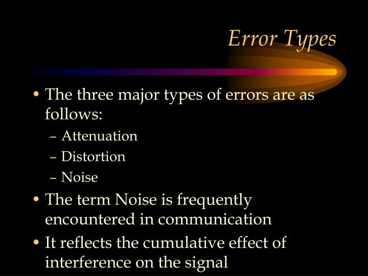 Error Types
