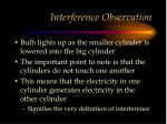interference observation