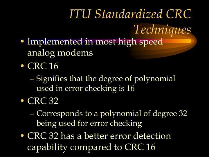 ITU Standardized CRC
