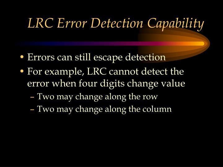 LRC Error Detection Capability