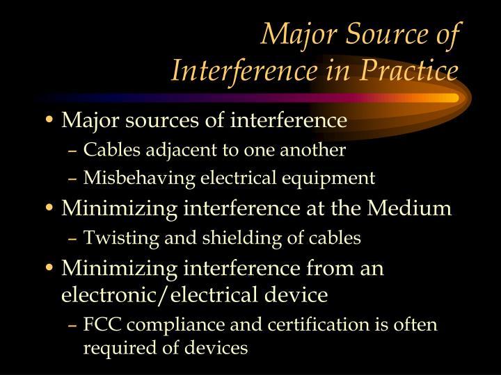 Major Source of