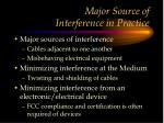 major source of interference in practice
