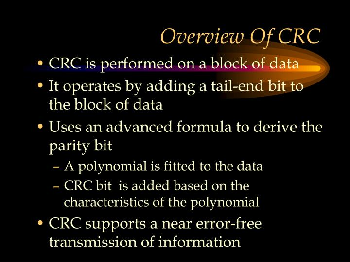 Overview Of CRC