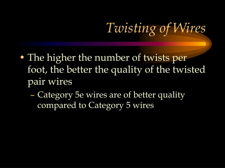 Twisting of Wires