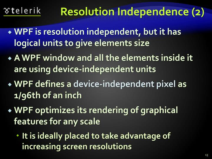Resolution Independence (2)
