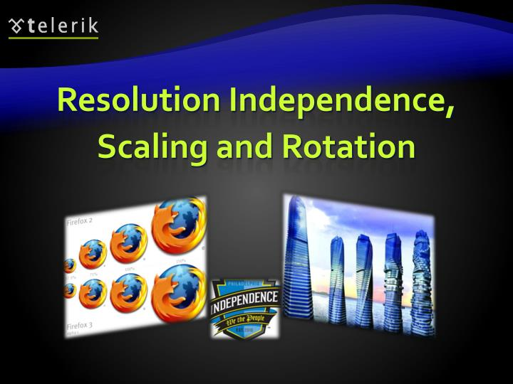 Resolution Independence, Scaling and Rotation