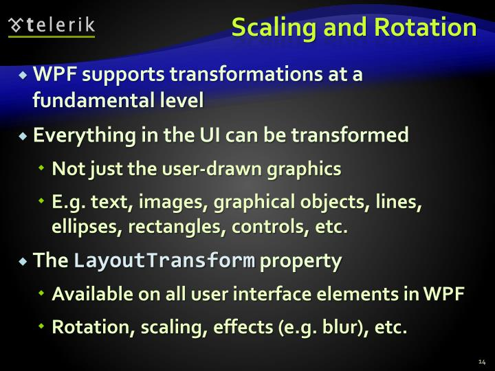 Scaling and Rotation