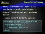 transform classes