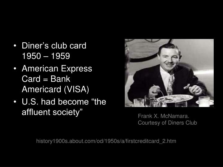 Diner's club card 1950 – 1959