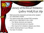 literary technical elements gallery walk exit slip