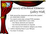 literary technical elements gallery walk
