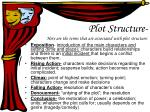 plot structure here are the terms that are associated with plot structure