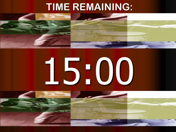 Time remaining
