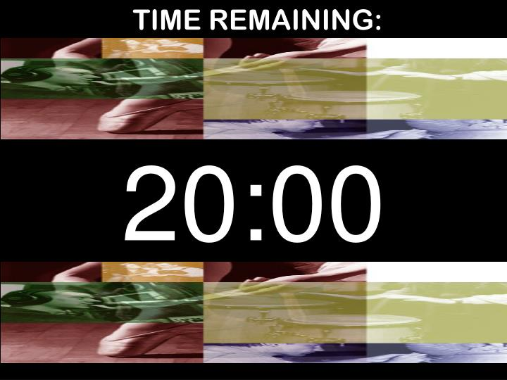 TIME REMAINING:
