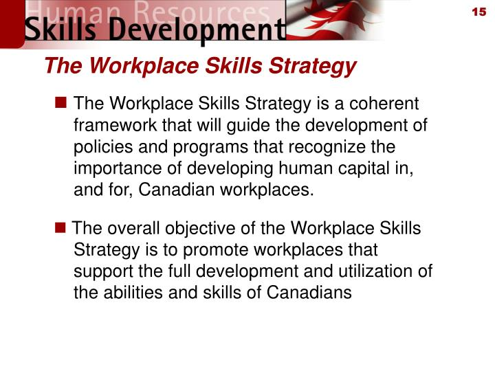 The Workplace Skills Strategy