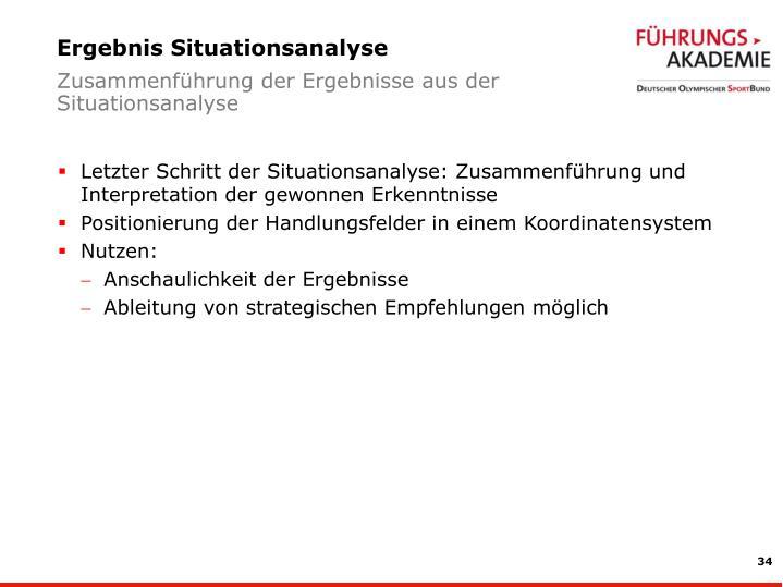 Ergebnis Situationsanalyse