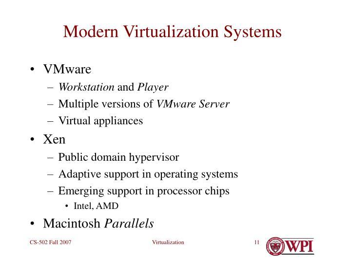 Modern Virtualization Systems