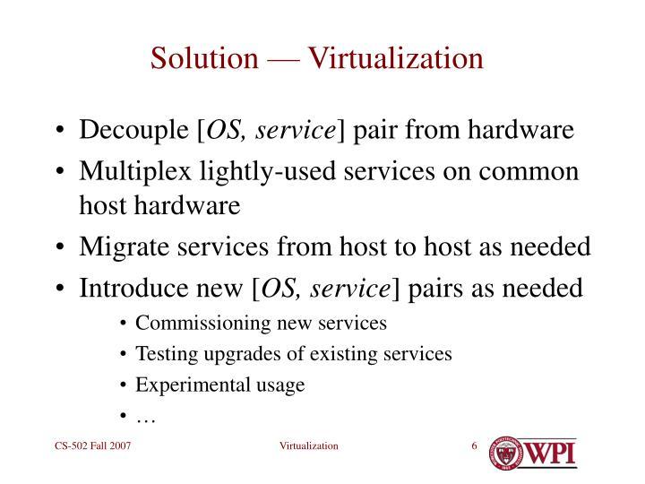 Solution — Virtualization