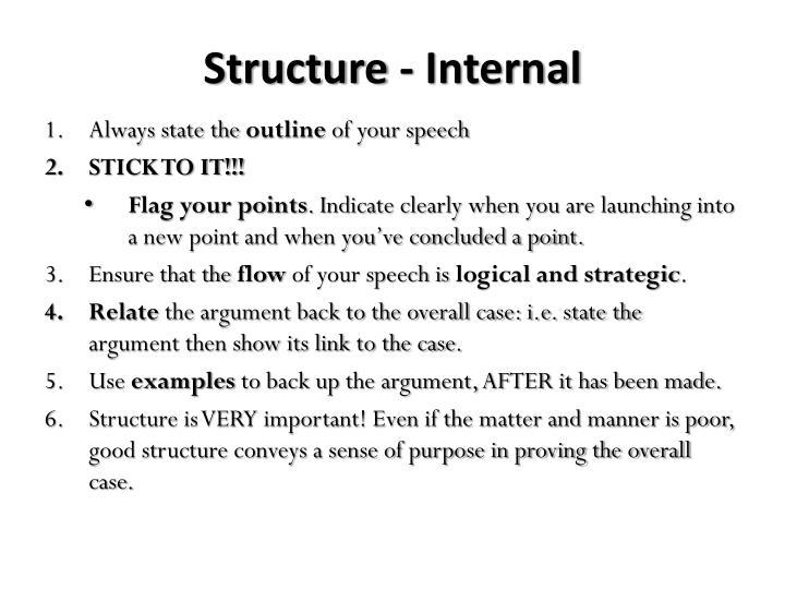 Structure - Internal