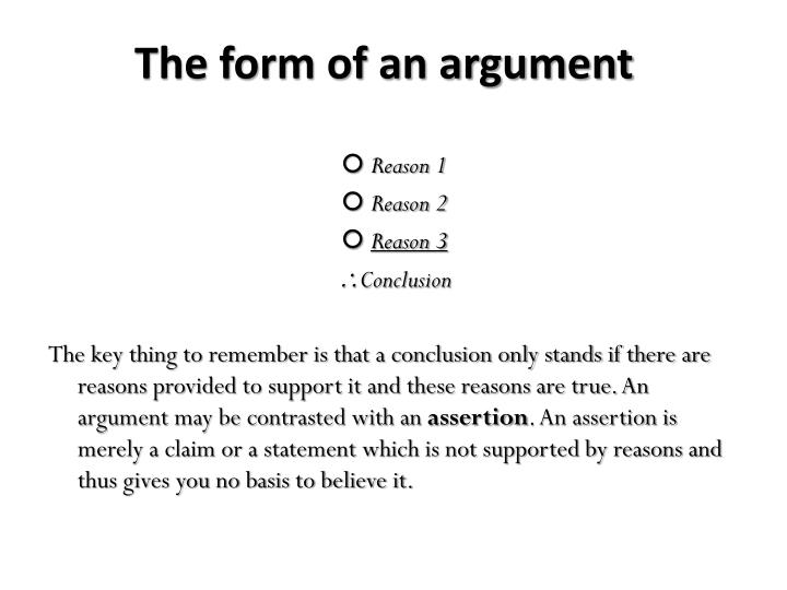 The form of an argument