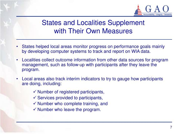 States and Localities Supplement