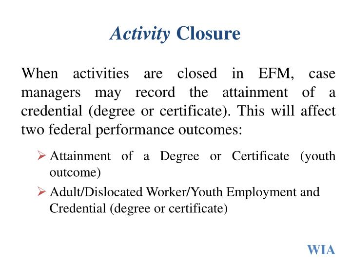 Activity closure1