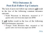 wia outcomes post exit follow up contacts