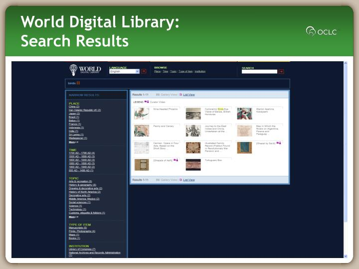 World Digital Library: