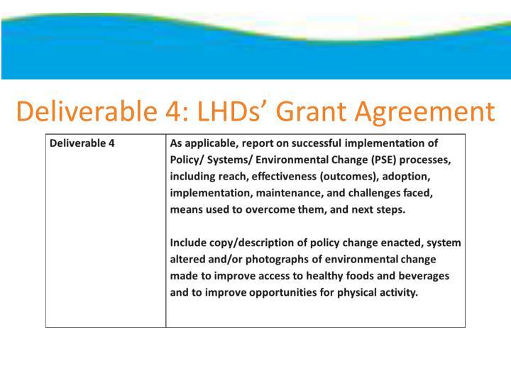 Deliverable 4: LHDs' Grant Agreement