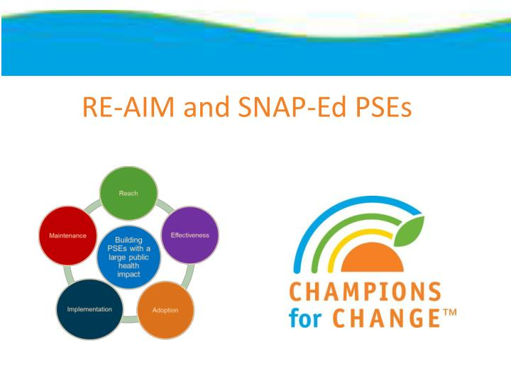 RE-AIM and SNAP-Ed PSEs